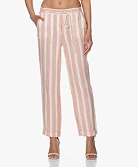Josephine & Co Bibian Striped Linen Pants - Light Salmon