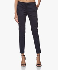 Woman by Earn Sue Stretch Katoenen Pantalon - Navy