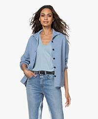 Sibin/Linnebjerg Spring Milano Button-through Cardigan - Light Denim Blue