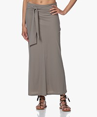 no man's land Tech Jersey Maxi Rok - Sage
