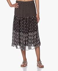 Vanessa Bruno Herani Printed Chiffon Midi Skirt - Noir