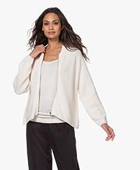 Drykorn Valene Oversized Cardigan with Zipper - Off-white