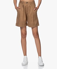 Closed Janie Bandplooi Bermuda Short - Golden Oak
