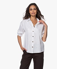 Resort Finest Daniela Linen Shirt - White