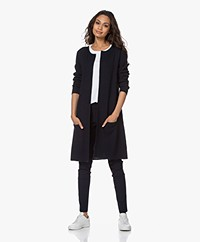 Sibin/Linnebjerg Mary Merino Blend Open Cardigan - Navy