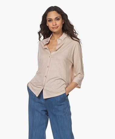 Majestic Filatures Jersey Linen Blend Shirt - Sable