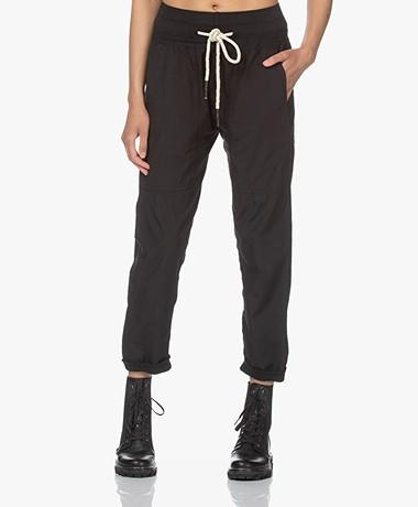 bassike Loose-fit Cotton Utility Pants - Black