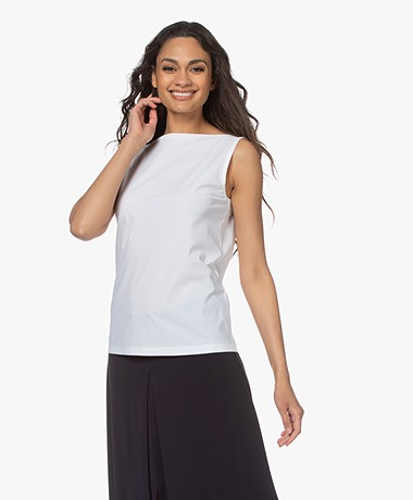 Woman By Earn Dewi Tech Jersey Boothals Top - Wit