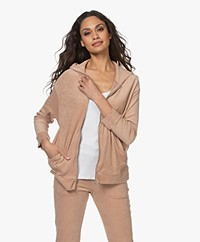 Majestic Filatures Terry Hooded Cardigan - Ficelle