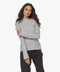 Bassike Raised Organic Cotton Long Sleeve - Grey Melange