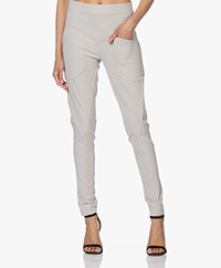 Woman by Earn Erin Tech Jersey Broek - Zand