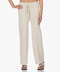 Joseph Rib Knitted Cotton Blend Pants - Porcelain