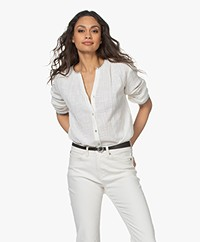 MKT Studio Clixon Crinkled Cotton Blouse - Off-white