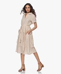 MKT Studio Rimir Striped Fit & Flare Dress - Sand