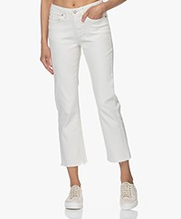 MKT Studio The Sophia New Drill Cropped Jeans - Krijt
