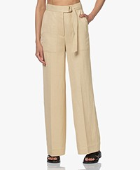Les Coyotes de Paris Lora Viscose Blend Twill Pants - Merinque