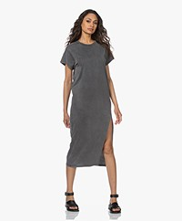 IRO Elisha Cotton Jersey Midi Dress - Used Grey
