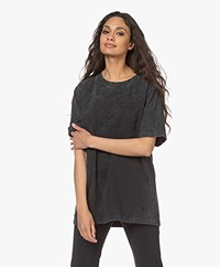 By Malene Birger Fayeh Acid Wash T-Shirt - Dark Grey Melange