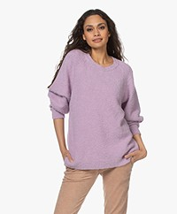 American Vintage Tikob Feather Yarn Sweater - Violet