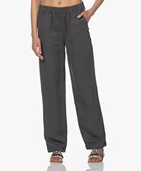 MKT Studio Piscou Linen-Tencel Pants - Greyish Green