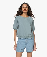 by-bar Neva Cotton Short Sleeve Sweatshirt - Cloud