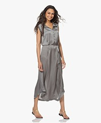 Zadig & Voltaire Raos Satin Maxi Dress - Grey