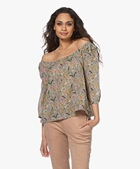 ba&sh Jerry Viscose Print Blouse - Multi-color