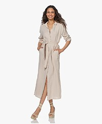 Josephine & Co Lauraine Linen Shirt Dress - Natural