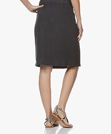 Belluna Weekly Linen Skirt - Navy