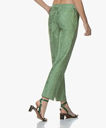 By Malene Birger Santsi Jacquard Pants - Turf Green