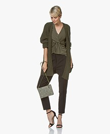 By Malene Birger Ursula Open Alpaca Blend Cardigan - Olive Night
