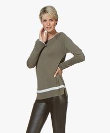 Plein Publique Le Jour Delicat Knit Sweater - Army/White