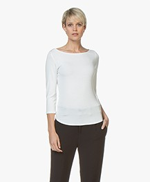 no man's land Cropped Sleeve T-shirt - Ivory