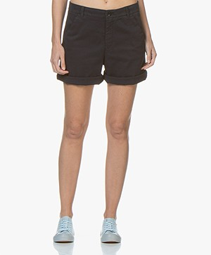 BOSS Sichily Stretch-katoenen Chino Short - Donkerblauw