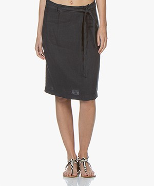 Belluna Weekly Linen Skirt - Navy