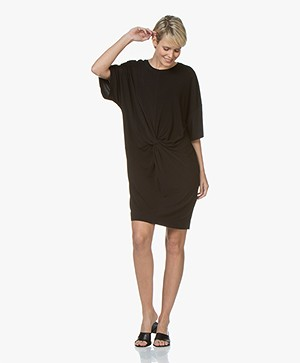 By Malene Birger Aliya Crepe Jersey Dress - Black