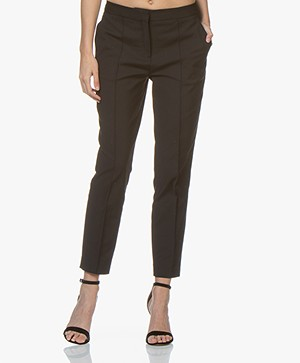 By Malene Birger Santsi Cotton Blend Pants - Black