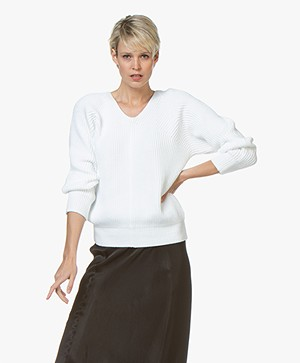 Filippa K Chunky V-Neck Sweater - Wit