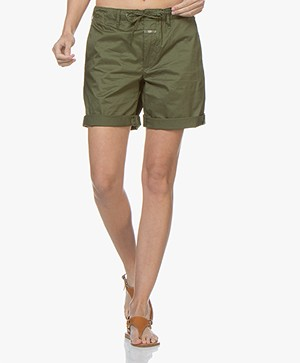 Closed Lya Poplin Shorts - Jungle