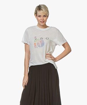 IRO Inspiring Logo Slub T-shirt - Lichtgrijs