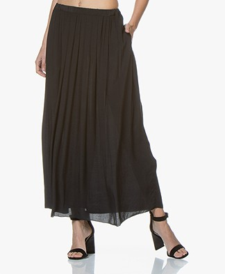 BY-BAR Linde Viscose-Crepe Maxi Skirt - Black