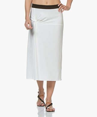 By Malene Birger Cintia Crepe Jersey Midi Skirt - Soft White