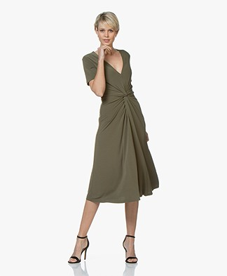 By Malene Birger Pricilla Crepe Jersey Dress - Olive Night