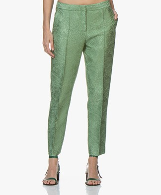 By Malene Birger Santsi Jacquard Pantalon - Turf Green