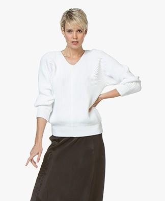 Filippa K Chunky V-Neck Sweater - Wit