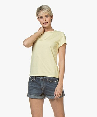 Filippa K Flared Cap Sleeve T-shirt - Wax