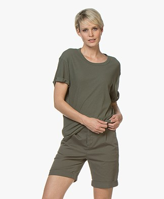 Drykorn Larima Cotton Jersey T-shirt - Green