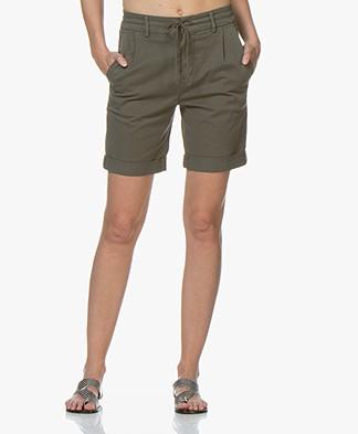 Drykorn Trainee Cotton Blend Shorts - Khaki