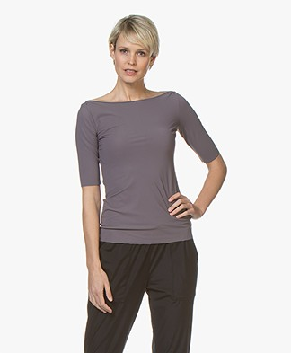 Filippa K Soft Sport Slim Mid sleeve T-shirt - Black Pearl