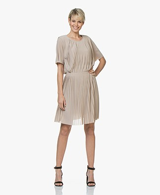 Filippa K Pleated Dress - Light Taupe